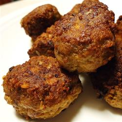 cooked turkey meatballs