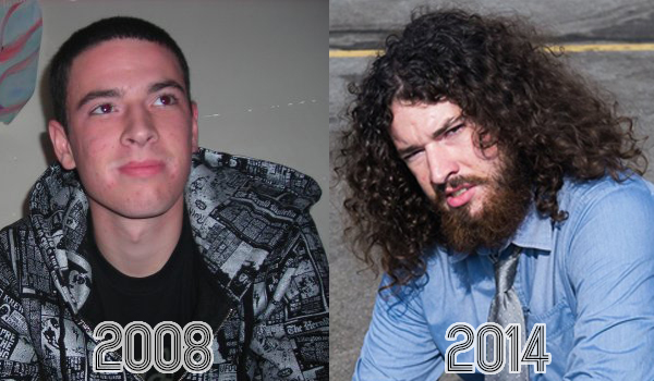 What a difference a beard makes. He's me going from no hair to full Wolverine (with a few haircuts in between).
