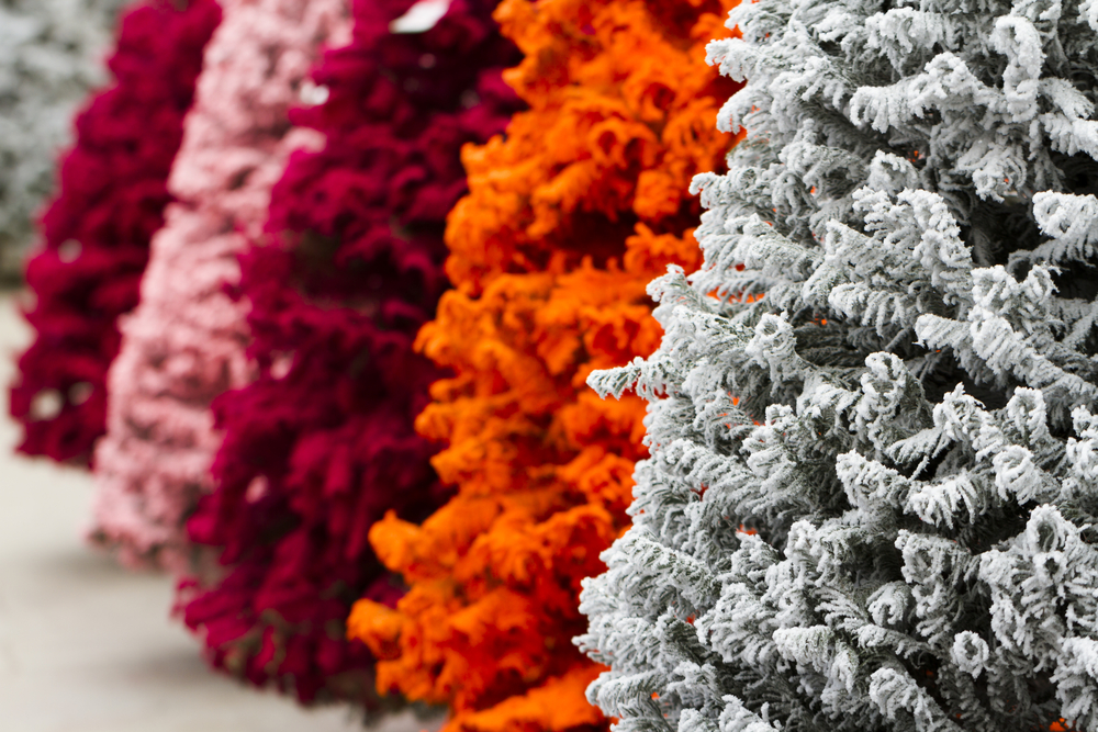 Colored Christmas Trees 101 How to Style Your Offbeat Tree Her