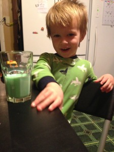 green milk from the elf