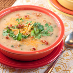 Slow Cook Baked Potato Soup