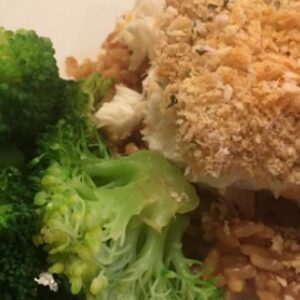 Easy Panko Crusted Halibut