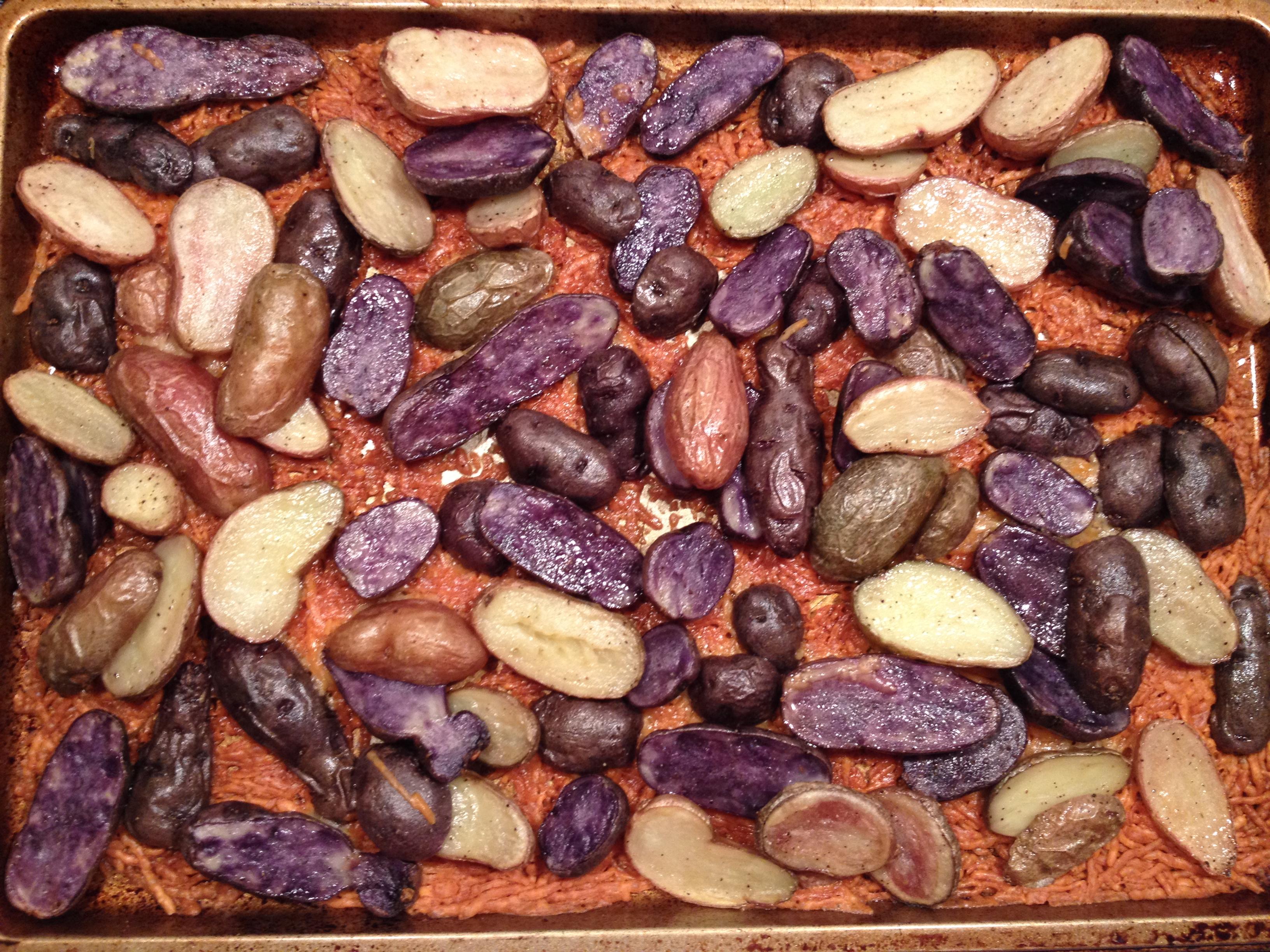 Roasted Purple Potatoes
