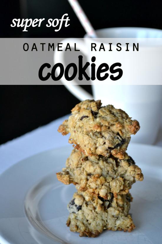 super soft oatmeal raisin cookies copy