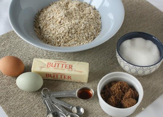 Cinnamon Baked Oatmeal Ingredients