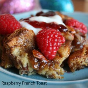 Cinnamon-Raspberry French Toast