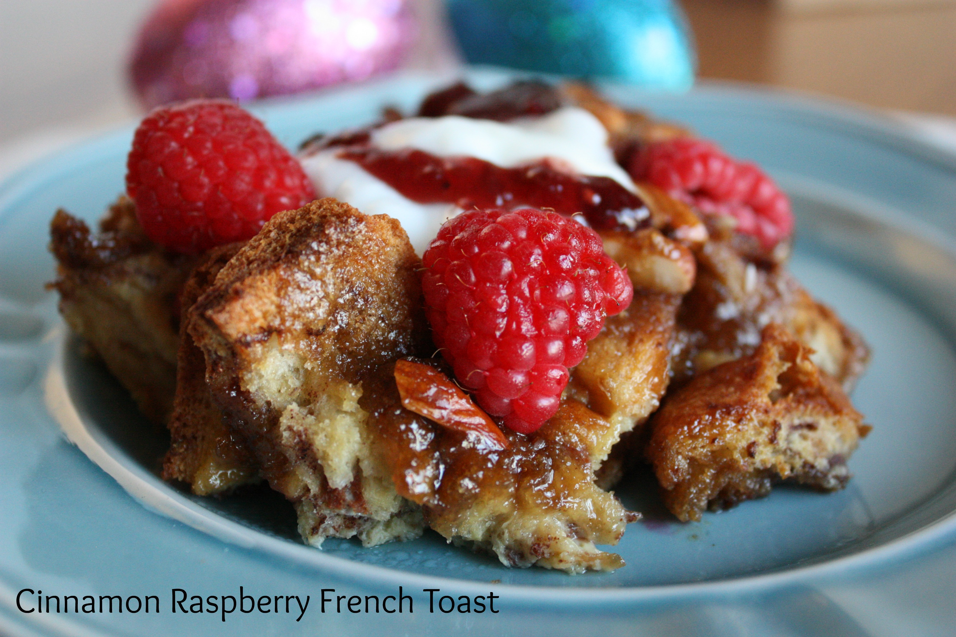 Cinnamon-Raspberry French Toast www.herviewfromhome.com