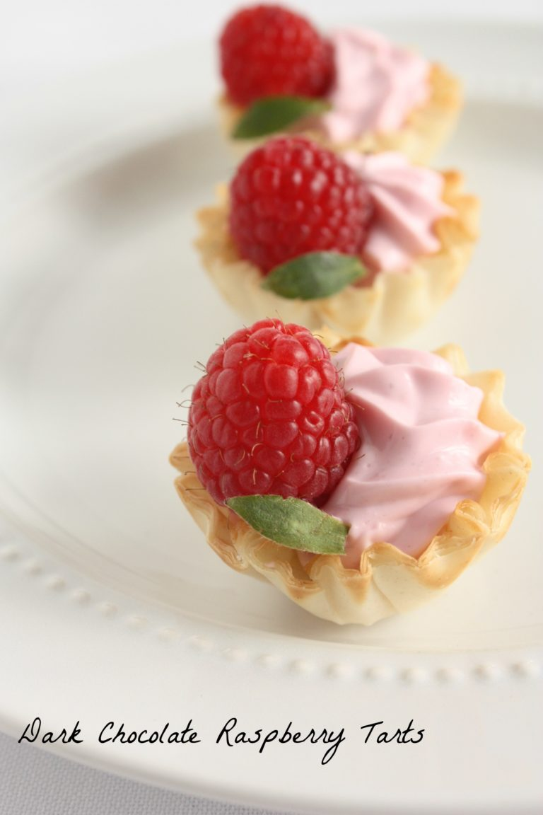 Dark-Chocolate-Raspberry-Tarts - www.herviewfromhome.com