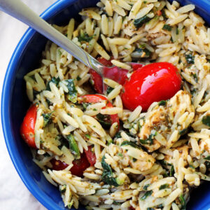 Pesto Chicken Orzo, and a Sad Food Blog Fairy Tale