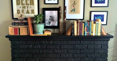 Fireplace Makeover - www.herviewfromhome.com