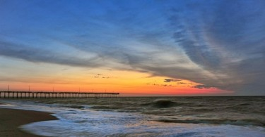 pier at sunset by Stan