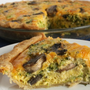 Cheesy Veggie Quiche