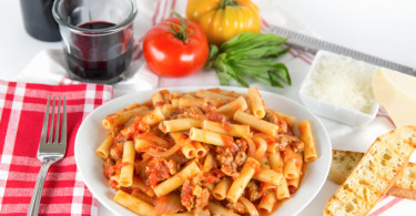 Ziti Pasta with Sweet Italian Sausage