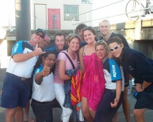 With the scuba adventure crew