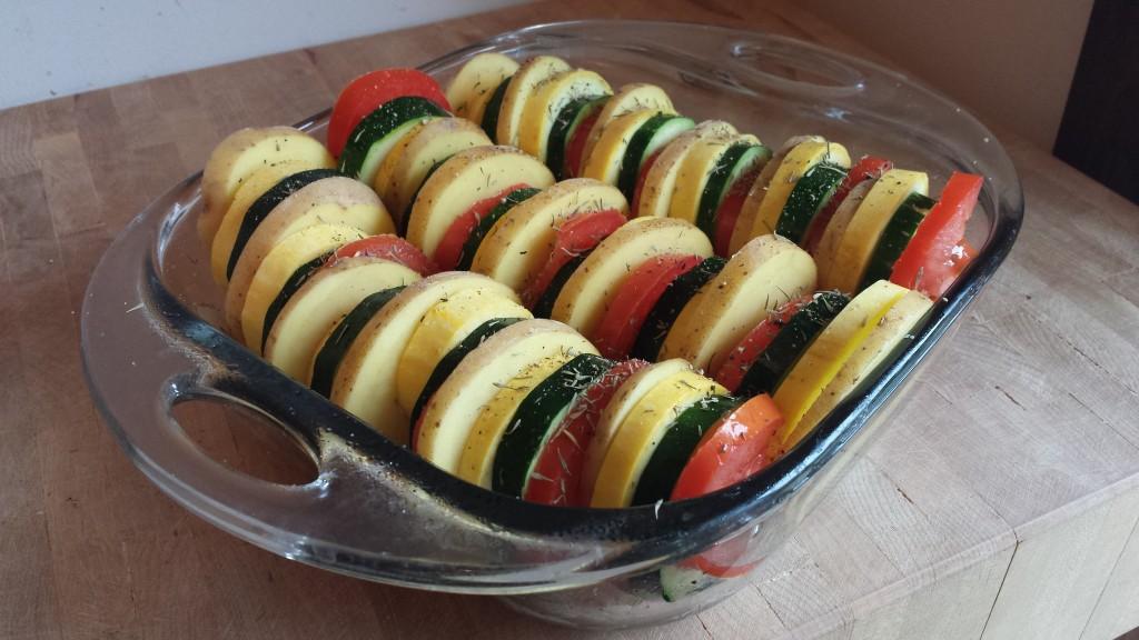 pre-baked vegetable tian