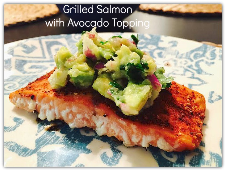 Grilled Salmon with Avocado Topping www.herviewfromhome.com