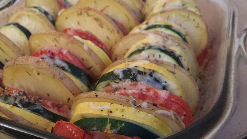 vegetable tian close up