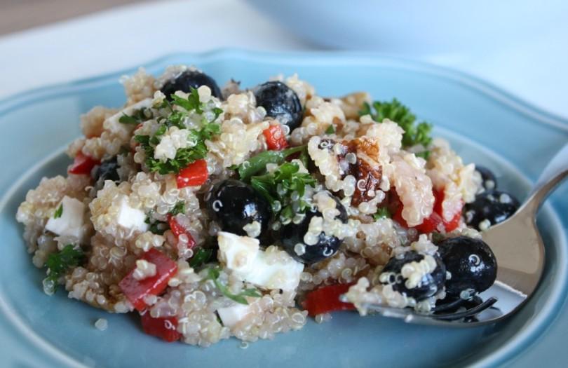 Patriotic Blueberry Quinoa Salad www.herviewfromhome.com