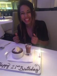 Birthday dinner in Vegas