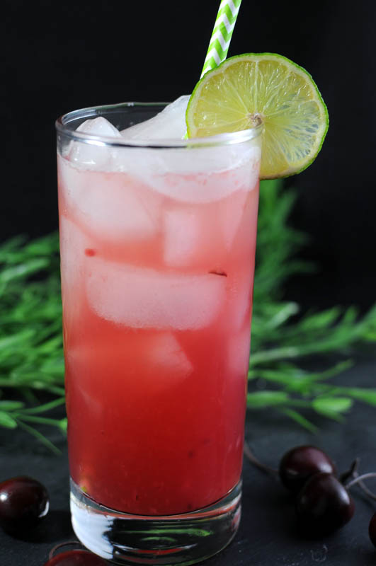 Ginger Cherry Smash   www.herviewfromhome.com