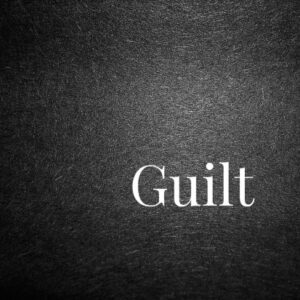 The guilt of suffering…