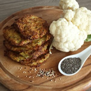 Baked Quinoa Chia Cauliflower Cheese Patties