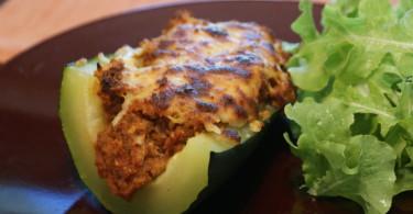 Beef-Stuffed Zucchini www.herviewfromhome.com