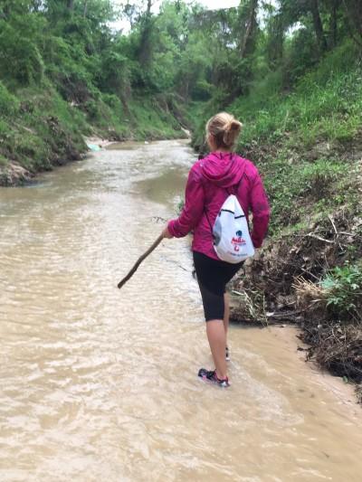 Taking a walk along, er, IN, Cypress Creek
