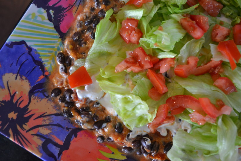 Layered Southwestern Bean Dip www.herviewfromhome.com