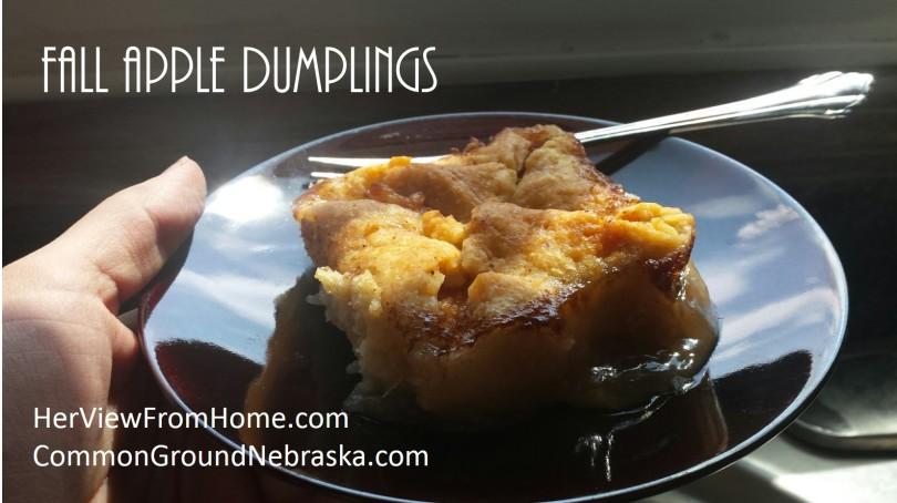 Fall Apple Dumplings_CommonGround Nebraska - www.herviewfromhome.com