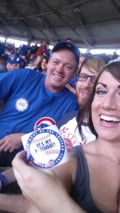 A Cubs game was had and sat next to another Birthday weekender