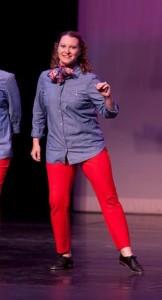 Dancing during the recital