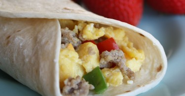 Make Ahead Freezer Breakfast Burritos www.herviewfromhome.com