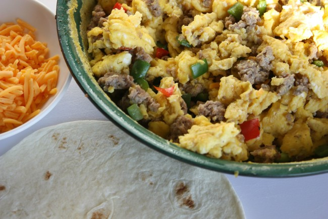 Make Ahead Freezer Breakfast Burritos www.herviewfromhome.com