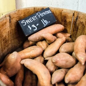 Maple Roasted Sweet Potatoes (and the difference between a yam and a sweet potato)