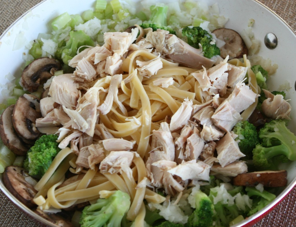 Turkey Fettuccine Skillet Meal (Great for Holiday Leftovers)
