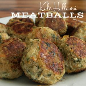 Kale Halloumi Meatballs