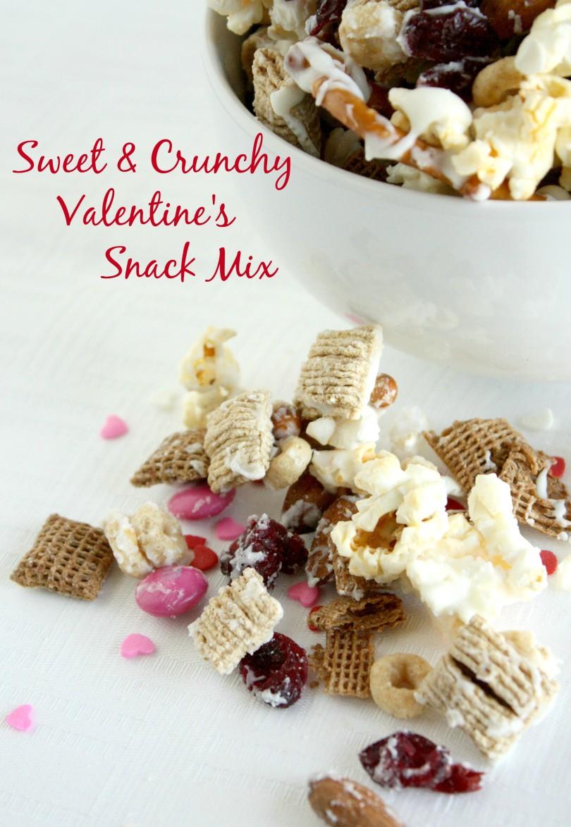 Sweet & Crunchy Valentine's Snack Mix www.herviewfromhome.com