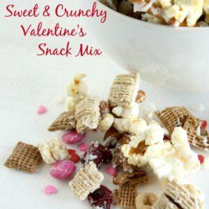 Sweet & Crunchy Valentine's Snack Mix