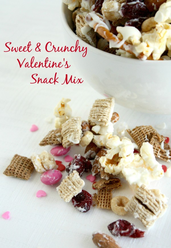 Sweet & Crunchy Valentine's Snack Mix www.herviewfromhome.com