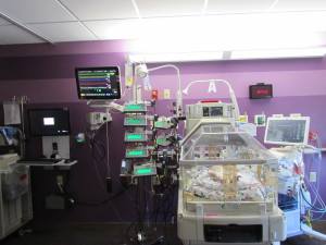 NICU room before surgery