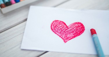 A Simple Paper Heart...simple gestures of love matter. www.herviewfromhome.com