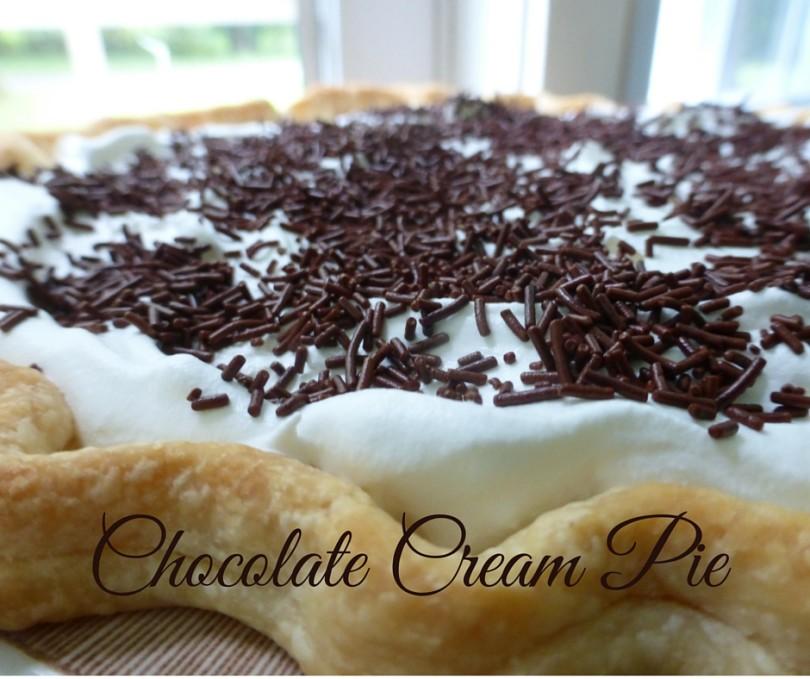 Over-Achiever Chocolate Cream Pie www.herviewfromhome.com