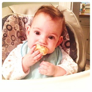 Peyton and her donut