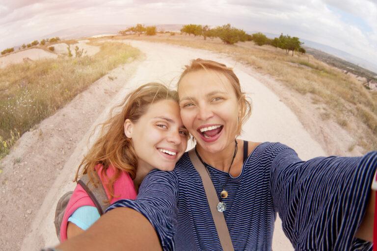 Two friends selfie