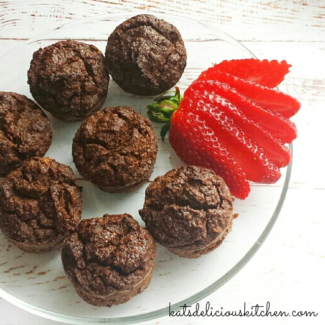 Chocolate Zucchini Coconut Muffins www.herviewfromhome.com