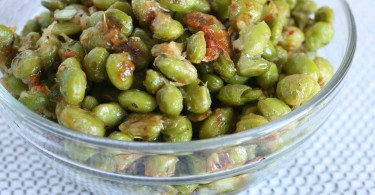 Roasted Italian Parmesan Edamame www.herviewfromhome.com