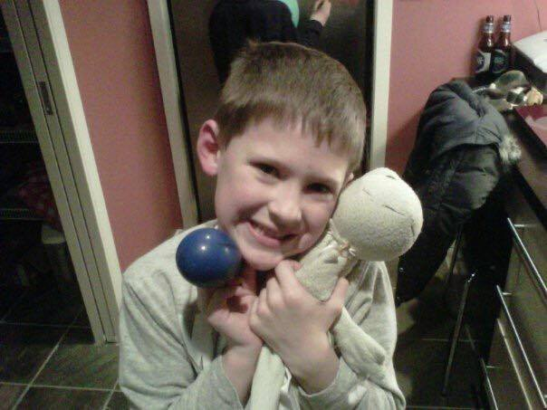 A Boy And His Favorite Stuffed Frog www.herviewfromhome.com