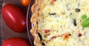 Savory Tomato Basil Tart www.herviewfromhome.com
