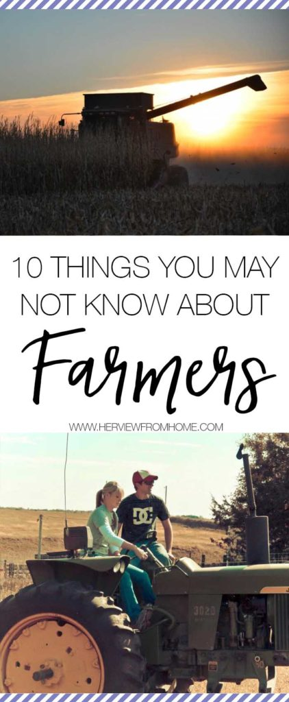 This time of year represents harvest.  The time of year when the farmers get to bring in the crop they have worked hard to grow. This harvest, spend some time thinking about what your local farmers mean to you - here are 10 things you may not know about farmers.